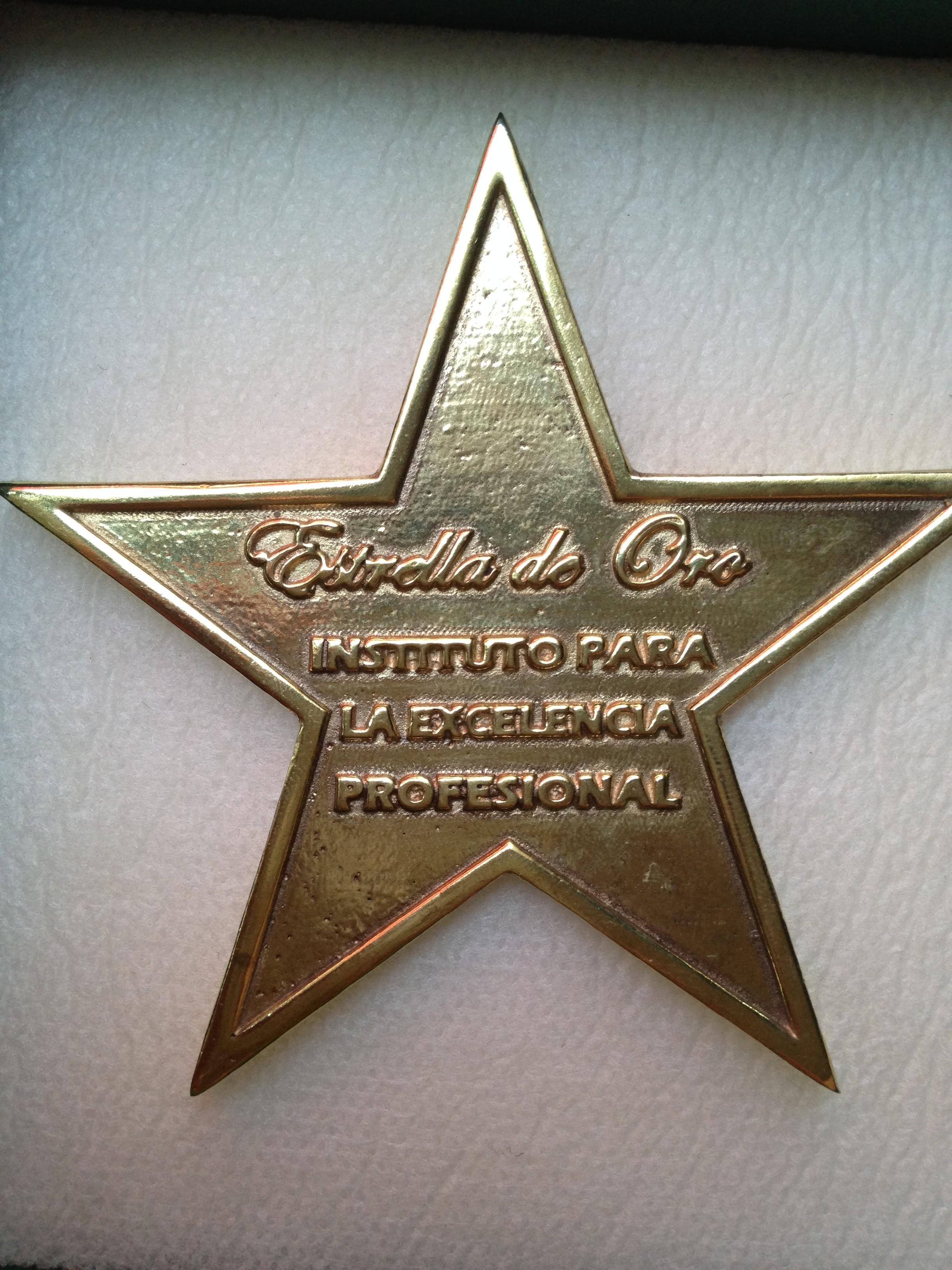 Estrella de Oro a la Excelencia Profesional para Cebado